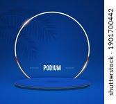 elenagt 3d circle blue podium... | Shutterstock .eps vector #1901700442