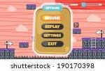 game assets platform menu... | Shutterstock .eps vector #190170398