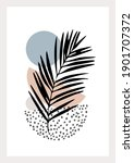 hand drawn art in modern...   Shutterstock .eps vector #1901707372