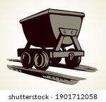 Old Iron Lurry Minecart Tram...