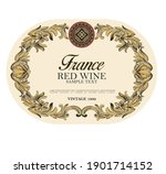 wine label italian food and... | Shutterstock .eps vector #1901714152