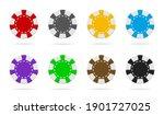 poker and casino chip. gamble... | Shutterstock .eps vector #1901727025