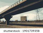 automobile overpass. cityscape...   Shutterstock .eps vector #1901739358
