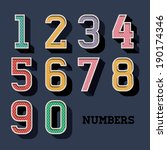 numbers design over blue... | Shutterstock .eps vector #190174346