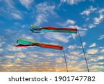 Colorful Windsock Blowing And...