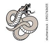 snake hand drawn vector... | Shutterstock .eps vector #1901763655