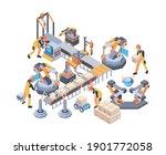 conveyors belt. machinery... | Shutterstock .eps vector #1901772058