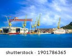 Ancona  Italy  The Port With...