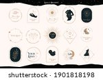 collection of logos with... | Shutterstock .eps vector #1901818198
