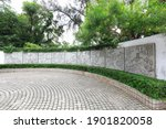 Small photo of Guangzhou City, China - April 5, 2019: Fable garden architectural scenery in Yuexiu Park.
