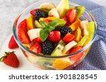 Healthy Fresh Fruit Salad In A...