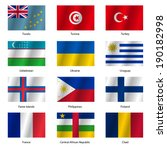 set  flags of world sovereign... | Shutterstock . vector #190182998