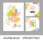 trendy abstract templates with... | Shutterstock .eps vector #1901837362