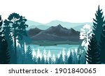 mountain landscape. view of the ...   Shutterstock . vector #1901840065