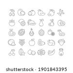 fruits. collection of perfectly ... | Shutterstock .eps vector #1901843395