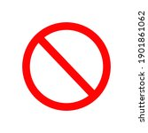red prohibition sign on white...   Shutterstock .eps vector #1901861062