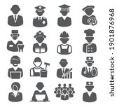 workers and professional icons... | Shutterstock .eps vector #1901876968