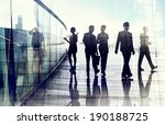 silhouettes of business people... | Shutterstock . vector #190188725
