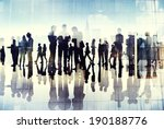silhouettes of business people... | Shutterstock . vector #190188776