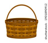 wicker basket as container... | Shutterstock .eps vector #1901890912