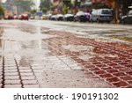 Heavy Rain On The Road In The...