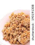 frozen pilaf on pink dish for... | Shutterstock . vector #190191308