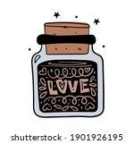 love. magic jar with love... | Shutterstock .eps vector #1901926195