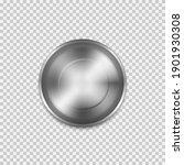 stainless steel empty plate ... | Shutterstock .eps vector #1901930308