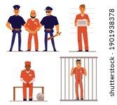criminals and policemen in... | Shutterstock .eps vector #1901938378