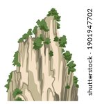 realistic chinese mountain ... | Shutterstock .eps vector #1901947702