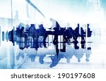 abstract image of business... | Shutterstock . vector #190197608