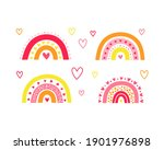 set of cute colorful... | Shutterstock .eps vector #1901976898