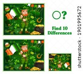 kids game find ten differences. ... | Shutterstock .eps vector #1901995672