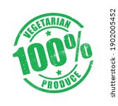 vegetarian produce 100  stamp... | Shutterstock .eps vector #1902005452