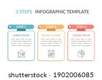 infographic template with three ...   Shutterstock .eps vector #1902006085