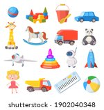 baby toys. cartoon kids toy for ... | Shutterstock .eps vector #1902040348