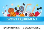 sport equipment banner. ball... | Shutterstock .eps vector #1902040552
