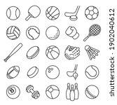 ball sports line icons. outline ... | Shutterstock .eps vector #1902040612