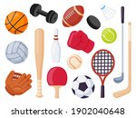 Sport Equipment. Cartoon Balls...