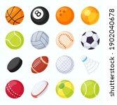 sport balls. soccer  tennis ...   Shutterstock .eps vector #1902040678