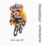 get over it slogan with bear...   Shutterstock .eps vector #1902064462