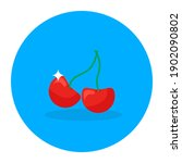 nutritious food  cherries in... | Shutterstock .eps vector #1902090802