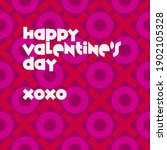 happy valentine's day over... | Shutterstock .eps vector #1902105328