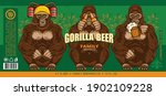 beer label with three wise... | Shutterstock .eps vector #1902109228
