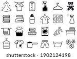 laundry icons set.  washing... | Shutterstock .eps vector #1902124198