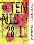 tennis 2021 typographical...   Shutterstock .eps vector #1902131722