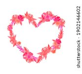 Watercolor Floral Heart Shaped...