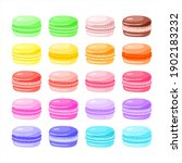 set of colorful macaroon cakes | Shutterstock .eps vector #1902183232