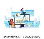 finance business analytics... | Shutterstock .eps vector #1902219592