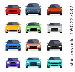 car front view vector flat icon.... | Shutterstock .eps vector #1902227032